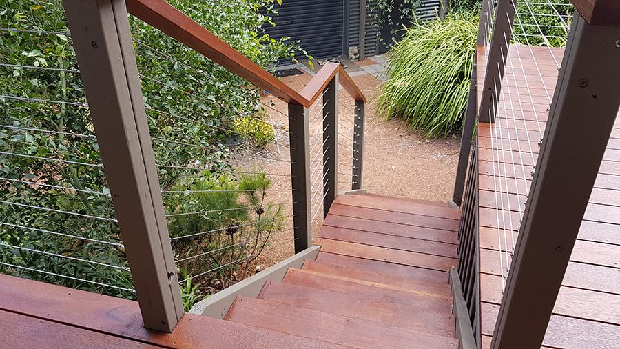 Custom Merbau Steps